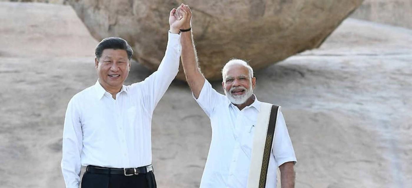 Лідери КНР та Індії Сі Цзіньпін і Нарендра Моді