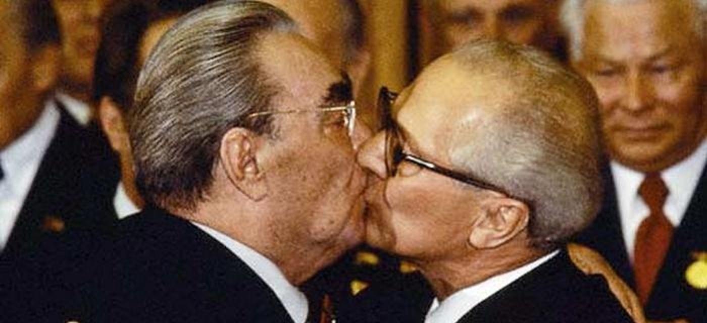 Леонід Брежнєв, поцілунок політиків