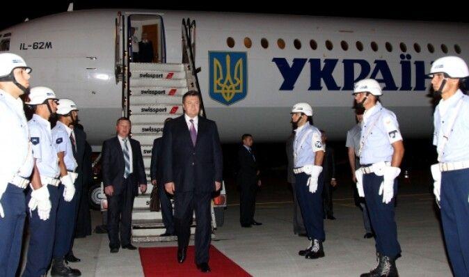 Авиапарк Януковича застраховали на 9 миллионов гривен