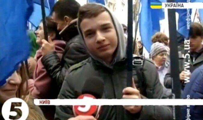 Оппозиция провела в центре Киева многотысячный митинг