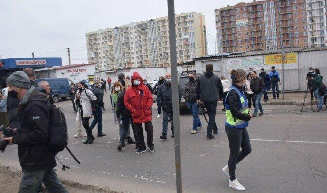 В Одессе предприниматели из-за карантина перекрыли улицу (фото)