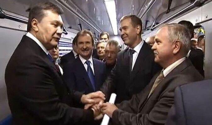 Янукович пообещал Киеву полсотни новых вагонов метро