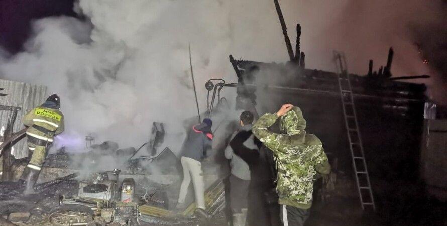 россия, пожар, дом престарелых, башкирия, спасатели, пожилые