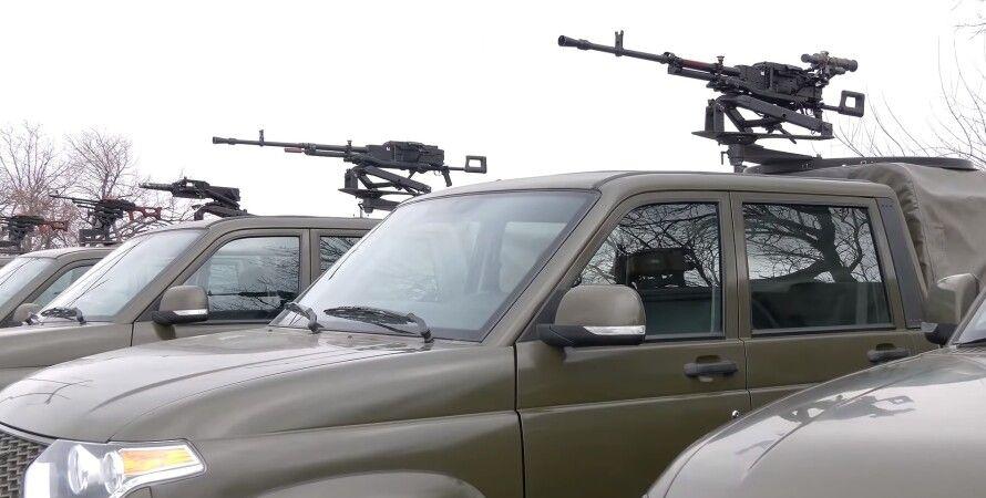 уаз, пикап, пулемет, гранатомет, автомобиль, машина, техничка