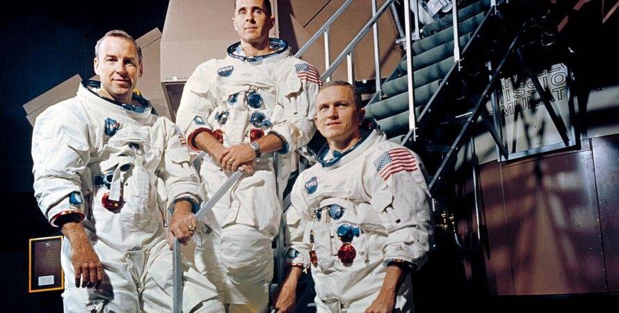 Экипаж Аполлона-8: Джеймс Ловелл, Уилльям (Билл) Андерс, Фрэнк Борман.NASA
