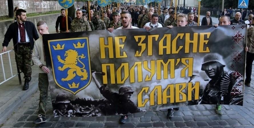 """СС """"Галичина"""", Киев, марш, Офис президента, осуждение,"""