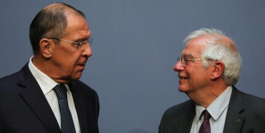 сергей лаврів, Жозеп Боррель, візит Борреля в москву 2021, прес-конференція Борреля і Лаврова, інтереси ЄС