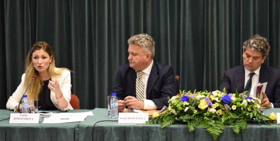 Эмине Джапарова и Сергей Кислица / Фото: МИД