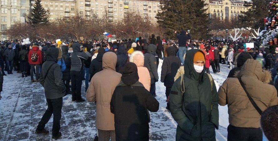 росія, протести, навальний, олексій навальний, затримання, поліція