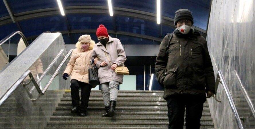коронавирус, украина, люди в масках