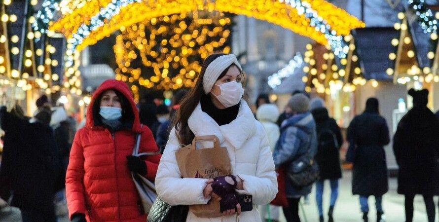 коронавирус, украина, люди в масках, улица