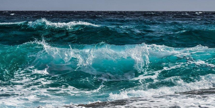 океан, волны, вода, соль, фото
