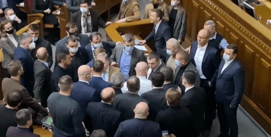 верховная рада, парламент, потасовка, опзж, драка