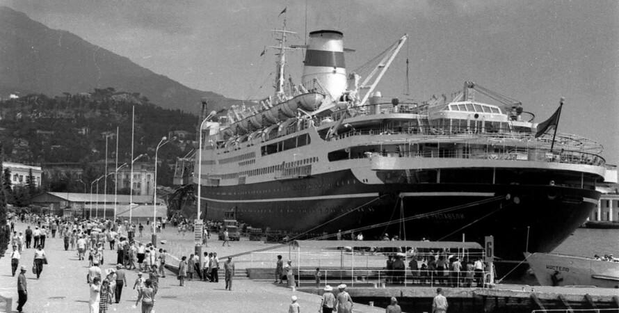 """круизный лайнер """"Шота Руставели"""", фото, турпоездки, СССР, за границу"""