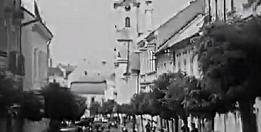 Ужгород, Архивное видео, Ужгородский замок, Краеведческий музей, Кафедральный собор