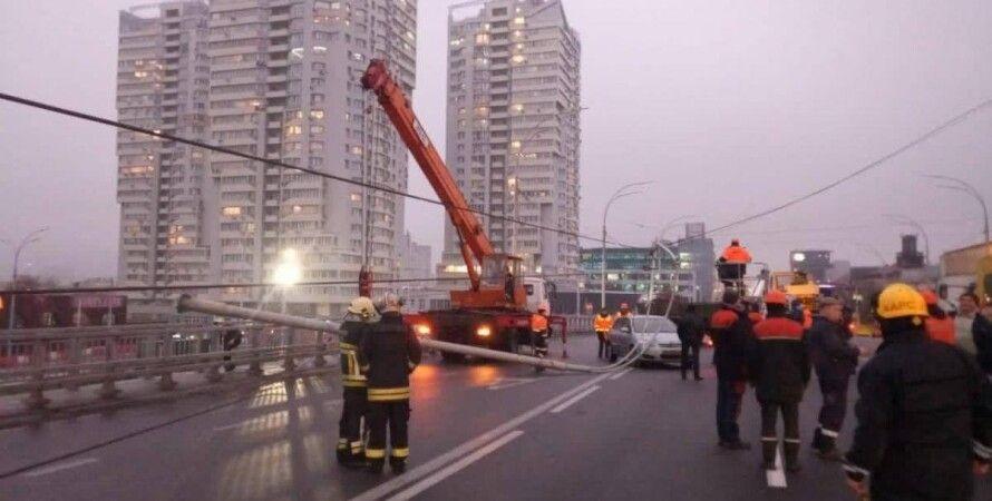 Шулявский мост, столбы, киев, авария, уголовное дело