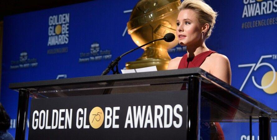 Кристен Белл объявляет номинантов / Фото: goldenglobes.com