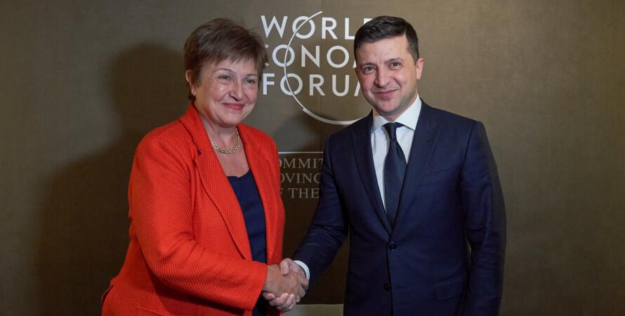 Владимир Зеленский, Кристалина Георгиева, Украина, МВФ, кредит, транш