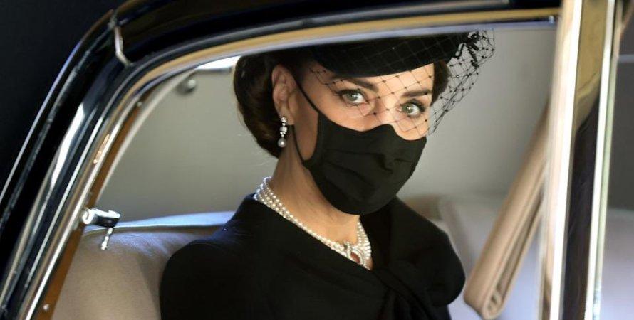 Кейт Міддлтон, герцогиня Кембриджська, фото, похорон принца Філіпа