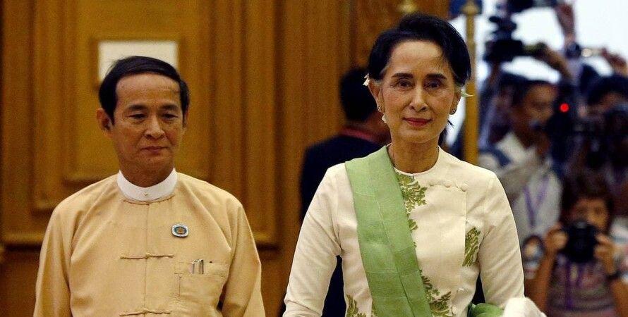 Президент Мьянмы Вин Мьин, Аун Сан Су Чжи