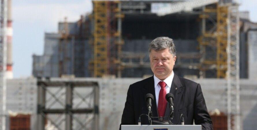Петр Порошенко на ЧАЭС / Фото пресс-службы президента