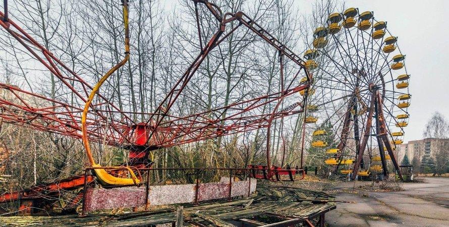 Чорнобиль, зона відчуження, потяг, ЧАЕС, залізниця, Вільча Янів, колія