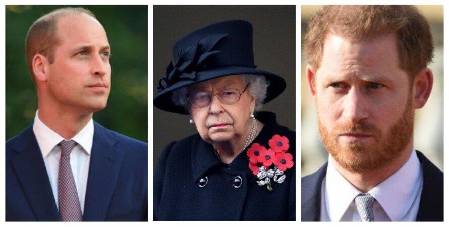 прин Уильям, королева Елизавета II, принц Гарри