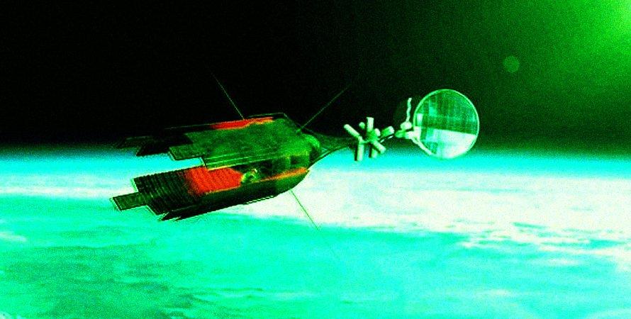 космос, иллюстрация, станция