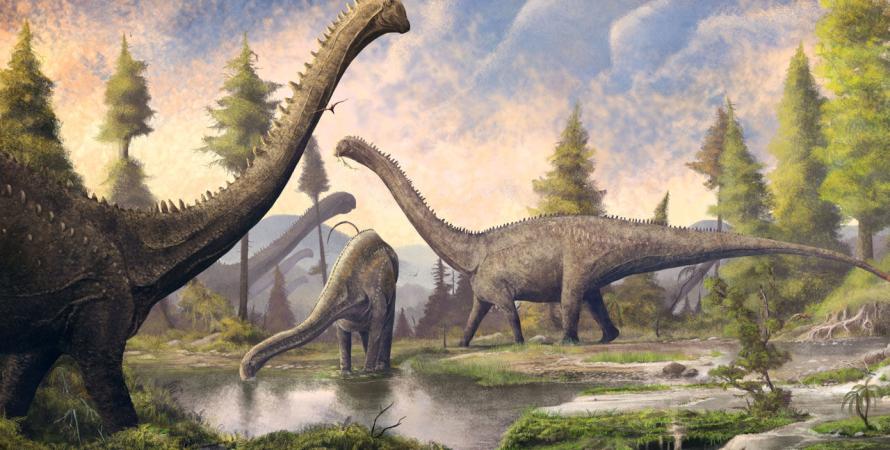 динозавры, зауроподы, природа, камни, фото