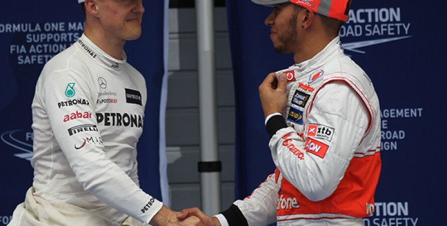 Шумахер и Хэмилтон 2012 год / Фото: F1News