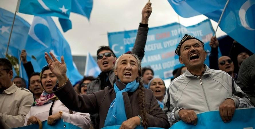 Китай, уйгуры, протест,