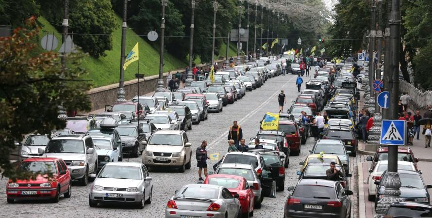 автоевросила, акция евробляхеров, протест, законопроект, растаможка, фото
