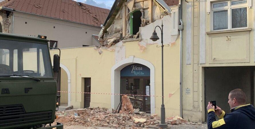 хорватия, землетрясение, Петринья, разрушения, дети