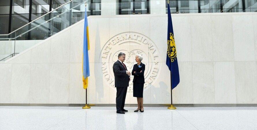 Петр Порошенко и глава МВФ Кристин Лагард / Фото: пресс-служба Петра Порошенко