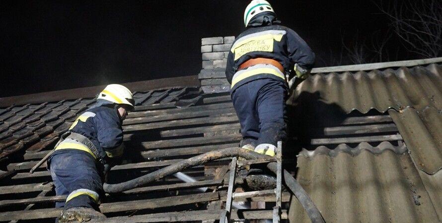 пожар, спасатели, тушение огня, огонь, пожарники