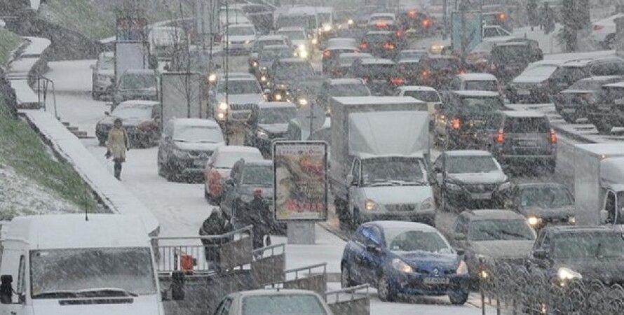 пробка, снегопад, штормовое предупреждение, зима 2021, снег, погода