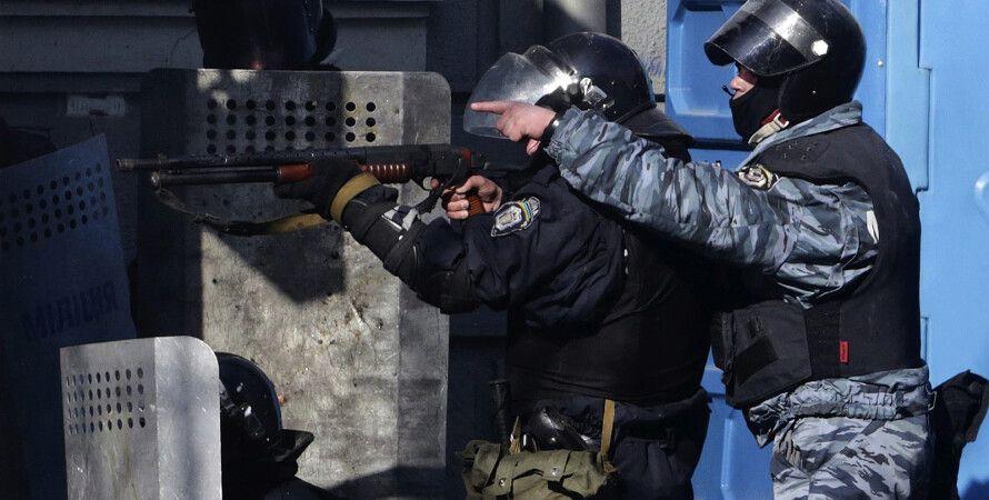 """""""Беркут"""" подавляет протесты в центре Киева / Фото: Maidanvideos.org"""