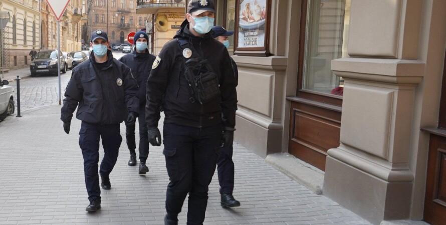 Полиция, кабмин, карантин, локдаун, штраф, парки, маски, коронавирус в украине