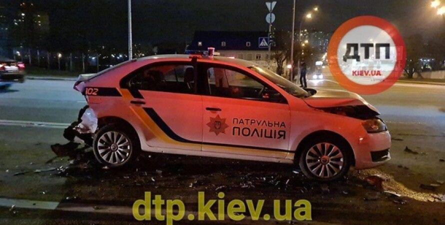 Киев, авария, ДТП, полиция, пьяный водитель