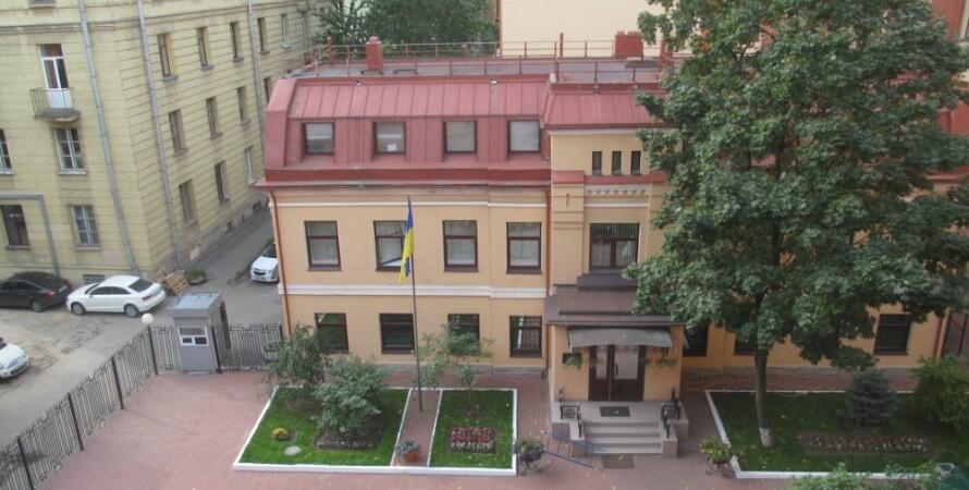 генконсульство украины в санкт-петербурге, генеральное консульство, атака, санкт-петербург, рф