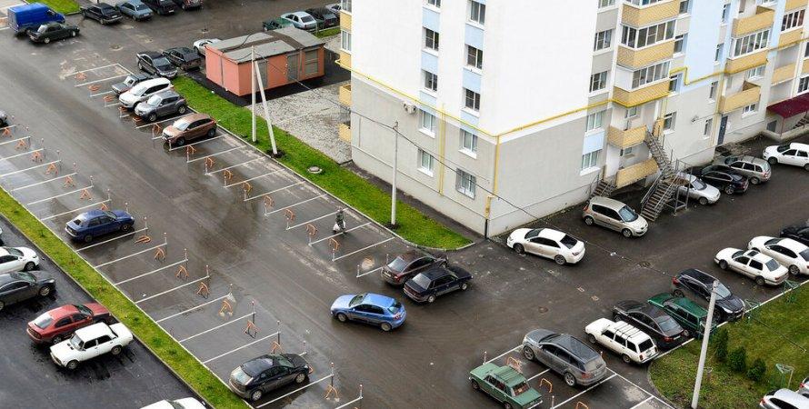 бесплатная парковка в киеве, парковка во дворе