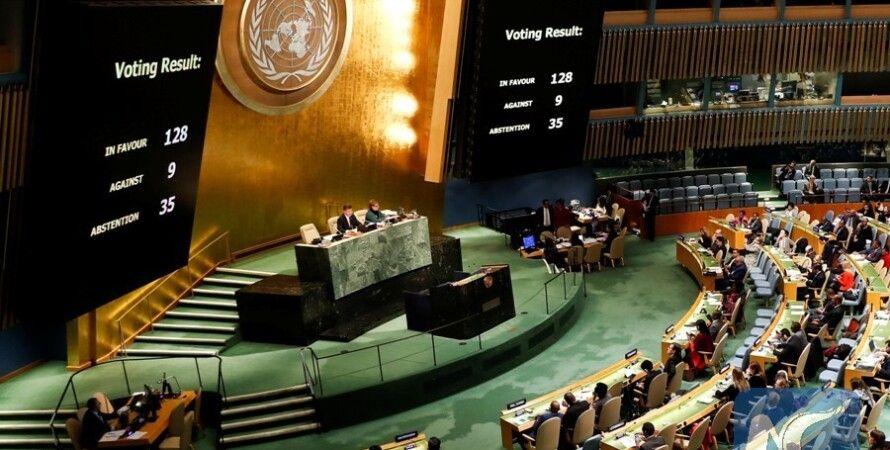 Результаты голосования по резолюции об Иерусалиме в ООН / Фото: xinhuanet.com