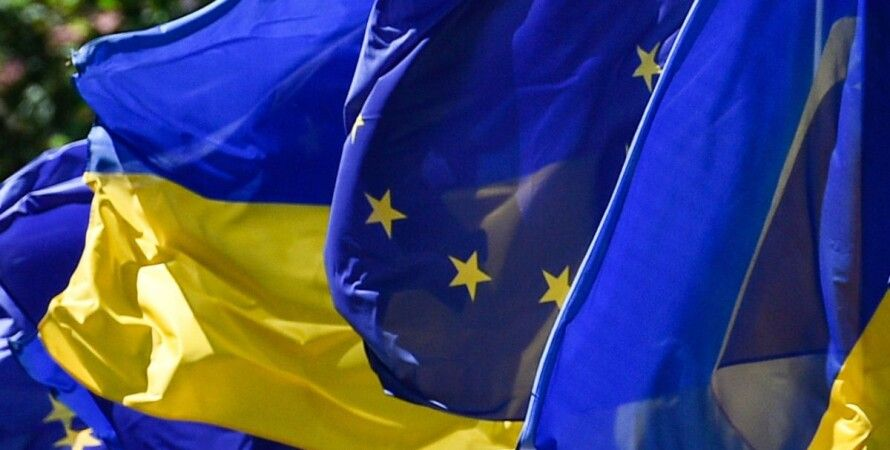 Флаги Украины и ЕС / Фото: president.gov.ua