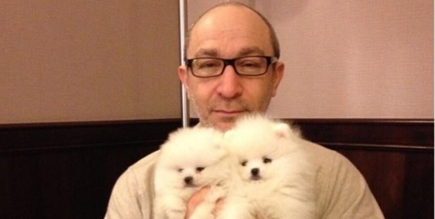 Геннадий Кернес, собака, выставка