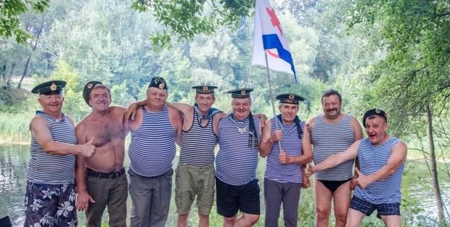 ветераны, вмф, флаг, фото