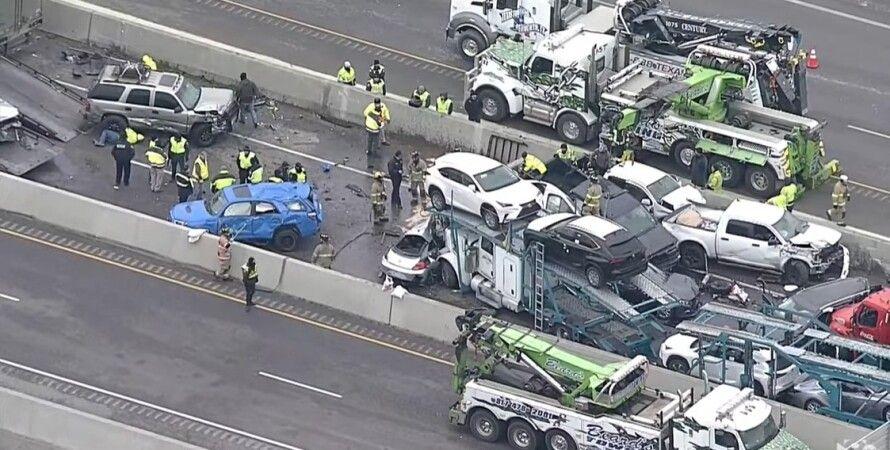 ДТП, фото, авария в Техасе