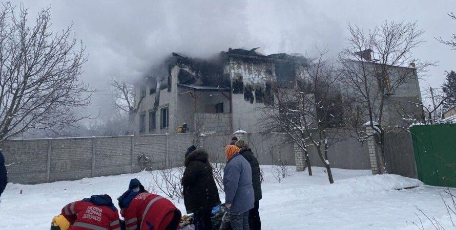 пожар в харькове, пансионат, дом престарелых, хоспис, сгоревший