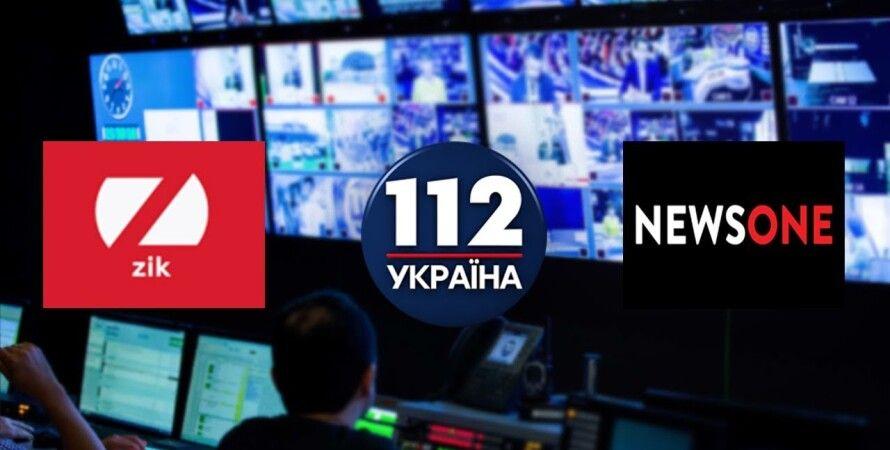 112, NewsOne, Zik, санкції, телеканал