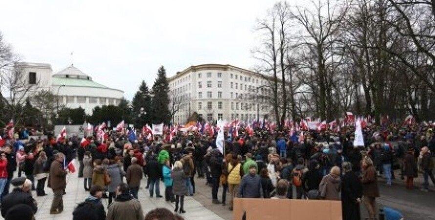 Митинг в Варшаве / Фото: TVN24