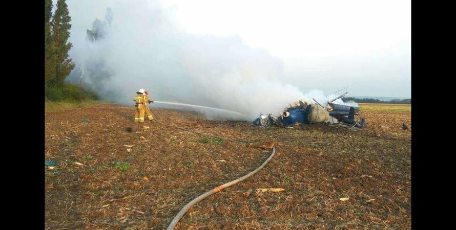 Крушение вертолета, спасатели